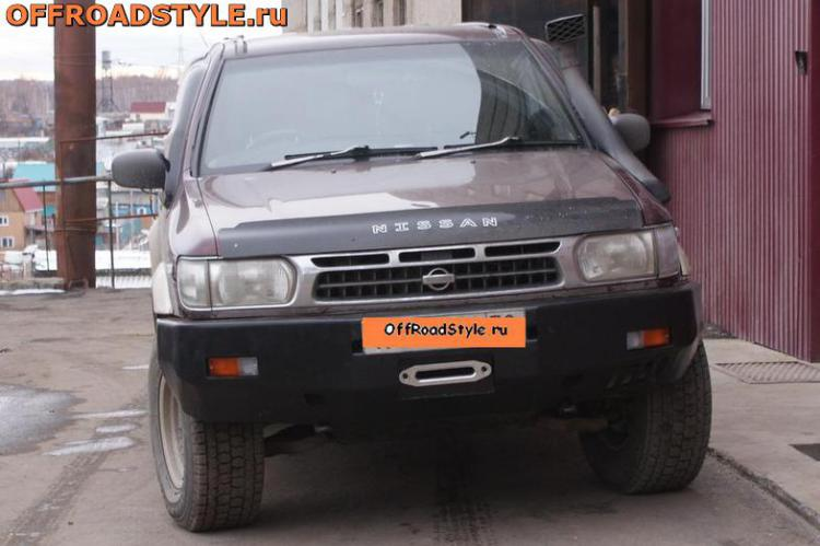Передний силовой бампер под лебёдку Nissan Pathfinder в кузове R 50 купить курск