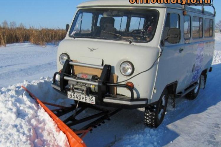 Как сделать отвал для снега на уаз 469