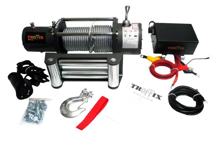 автомобильная электрическая лебедкаTroffiX 8000 12V воронеж тамбов брянск курск