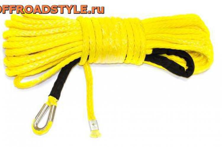 Синтетический трос Стократ для автомобильных лебедок 26 м, d 12.0 мм