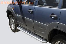 Защита порогов алюминиевым листом для Chevrolet Niva 2123 белгород курск харьков